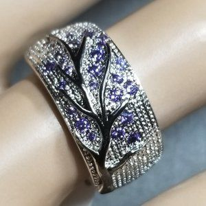 Selena Wedding/Mother's/Tree of Life Ring - Purple